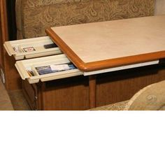 Great idea!! Added drawer under the dinette table