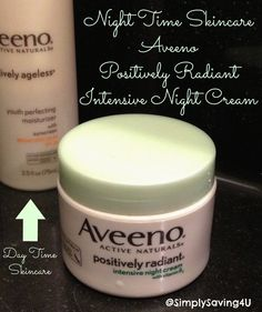 Night time skin care #beauty #RadiantWithAVEENO @Influenster #sp