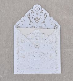 Lace Wedding Invitation Envelope Liners, Paper Doily Lace Invitation Liner Kit
