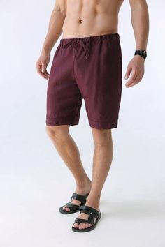Bright Summer Men Shorts Pants Linen Short Beach Shorts Men Beach Pant Fashion Men's Clothing