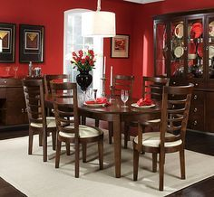 Wall & Table Colors For Wine Decorated Dining Room Home Pleasing Red Dining Rooms Review