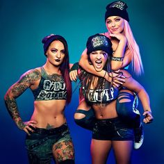 [The women of WWE Evolution]: The Riott Squad Wrestling Stars, Wrestling Divas, Women's Wrestling, Wwe Divas Paige, Paige Wwe, Wrestlemania 29, Becky Wwe, Holland, Wwe Women's Division