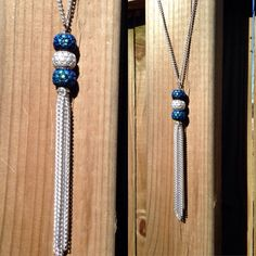 Unique clasp free chain tassel necklace 30 in by TexasMadeJewelry