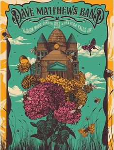 Tonight's poster Blossom Dave Matthews Band Posters, Blossom Music Center, Concert Posters, Movie Posters, Tour Posters, Rock And Roll, Graphic Art, Illustration, Painting