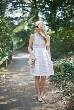 BROOKLYN BOTANIC GARDEN - Styled Snapshots, cherry blossoms, little white dress, spring dresses, donna morgan