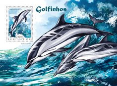 Post stamp Guinea-Bissau GB 14604 b	Dolphins (Lagenoryhynchus obscurus)