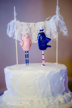 Navy and pink birds for wedding cake toppers. Photos of the final product! My navy blue and blush pink wedding!!!! ( navy, blush, white, ivory, silver wedding colors )