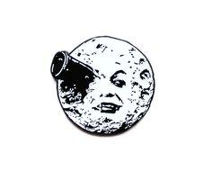 A Trip to the Moon enamel lapel pin