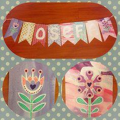 Banderines de papel! Ideal para regalar, o un baby shower...o la pieza de tus niños! Cada letra vale $1.200. Si es para colgar (con ojetillos y cordelito) $1.000 mas al total. Si quieres también puedes agregar banderines con diseños (flores, estrellas, corazones, autitos,etc) por solo $1.600 más. Encarga los tuyos hoy! Wassap 6-2063421 ❤️✨