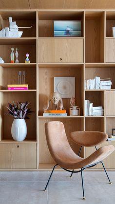 PS House — studio ro+ca Living Room Bookcase, Interior Design Living Room, Living Room Designs, Living Room Decor, Home Library Design, Design Desk, Bookshelf Design, Muebles Living, Interior Design Inspiration