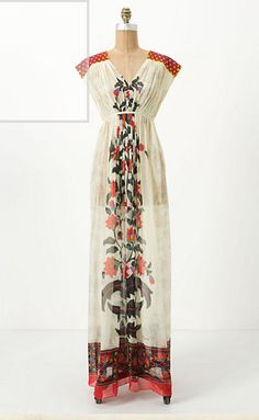 This is pretty spectacular dress from Anthropologie. It makes me think that a Russian princess would wear it.