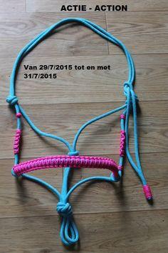 *** ACTIE - ACTION *** Van 29/7/2015 tot en met 31/7/2015 From 29/7/2015 to 31/7/2015 Touwhalster met gepimpte wangen - Rope halter with pimped cheeks €10.50 in plaats van €12 - €10.50 instead of €12 www.horsegadgets.luondo.nl www.horsegadgets.webs.com