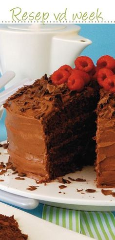 Basic chocolate #cake #recipe #Wêreldbakdag  | Standaardsjokoladekoek No Bake Chocolate Cake, Death By Chocolate, Baking Chocolate, Quick Recipes, Baking Recipes, Cake Recipes, South African Recipes, Ethnic Recipes, Quick Meals For Kids