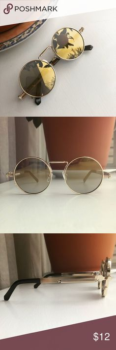 Butterfly Wing Shaped Sunglasses Hippy Boho Festival Metal Frames Yellow Lens Women's Sunglasses & Accessories Women's Accessories
