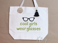 Hand-Painted Canvas Tote Bag  Cool Girls Wear by KristiBags