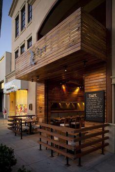 Outdoor Cafe Design Ideas – Cafe Interior and Exterior Restaurant Exterior Design, Small Restaurant Design, Decoration Restaurant, Cafe Exterior, Deco Restaurant, Cafe Interior Design, Restaurant Facade, Small Cafe Design, Restaurant Entrance