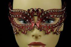 Red Metal Venetian Birds Eye Mask, $25 masquerade mask