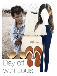 """""""Day off with Louis"""" by style-with-one-direction ❤ liked on Polyvore featuring Topshop, Lipsy, Mulberry, Ray-Ban, American Eagle Outfitters, OneDirection, 1d, louistomlinson and louis tomlinson one direction 1d"""