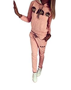 #Baymate #Damen #Trainingsanzug #Affe #Muster #Drucken #Hoodie #Sweatshirt #Anzug mit #Hose 2pcs #Rosa #L Baymate Damen Trainingsanzug Affe Muster Drucken Hoodie Sweatshirt Anzug mit Hose 2pcs Rosa L, , Maschinen wäsche., Paket umfassen: 1PC Sweatshirt   1PC Hose., Für alle anlässe ideal ist., Eingetroffen in dieser Saison, Attraktiver Stil und schönes Design., Sehr geeignet für Alltag, Sport, Strand, Urlaub, machen Ihnen charmant und cool.