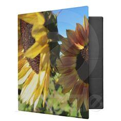 Sunflowers in a Garden Binder