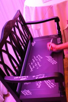 Our guestbook alternative...thanks overstock.com :  wedding purple silver IMG 6973
