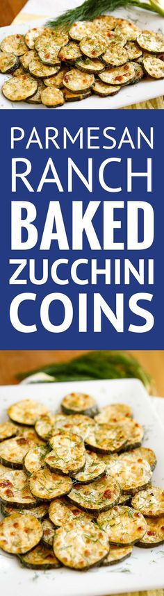 Parmesan-Ranch Baked Zucchini Coins -- need a good zucchini recipe to use up your bounty? This baked zucchini recipe, with its parmesan and ranch flavors, is absolutely fabulous! | baked zucchini parmesan | healthy baked zucchini | oven baked zucchini | easy baked zucchini | find the recipe on unsophisticook.com