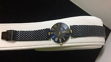H. STERN LADIES SAPPHIRE WATCH 18K GOLD DIAMOND HTF HANDMADE SWISS MVMT $5K NEW