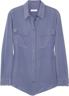 Love this: Signature Washed-Silk Shirt @Lyst equipment