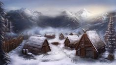 #Viking #village in #winter