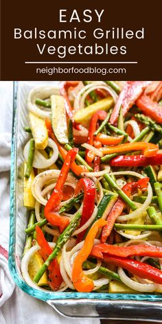 May 2019 - If you're looking for a go-to side dish for all of your summer barbecues, these easy balsamic grilled vegetables are perfect! Full of flavor and easy to adapt to whatever veggies you have on hand, this cookout side dish is always a hit! Cookout Side Dishes, Cookout Food, Veggie Side Dishes, Healthy Side Dishes, Vegetable Sides, Side Dish Recipes, Vegetable Salad, Grilled Side Dishes, Side Dishes For Brisket