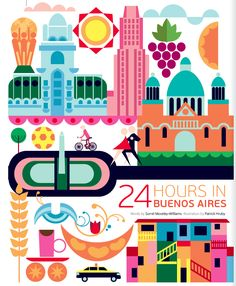 24 hours in Buenos Aires, Argentina, Illustration