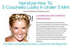 5 Summer Festival Hairstyles You Can Do In 5 min. Or Less!-  http://heatherstreasure.com/ #Festive #Festivals #FestivalHair #FestivalHairstyles #SummerHairstyles #SpringHairstyles #BraidTutorial #Coachella #CoachellaHairstyles #CoachellaStyle  #CoachellaFashion #HairbandBraid #FestivalFashion #MusicFestivals #QuickHairstyles #EasyHairstyles #HairTutorial #HairTutorials #HairstyleTutorials #Hairstyletutorial #DIYhairstyles