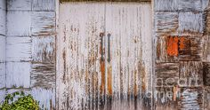 Doors of the World Series by Lexa Harpell. Peeling Patchwork Door - rural New South Wales.