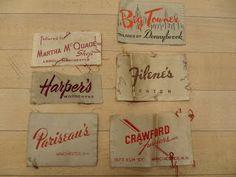 reclaimed crafts: vintage clothing labels