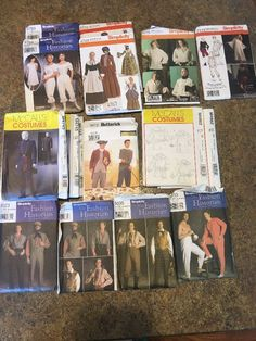 Costumes Patterns/ Period Or Reenactment All 16 For One Price  | eBay