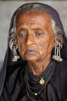 "India | ""Jewellery and Tattoos.  Rabari woman.  Gujarat. 