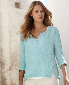 Image of Crinkle Linen Top