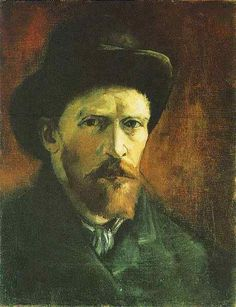 Vincent Van Gogh - Post Impressionism - Self-Portrait with Dark Felt Hat 1886