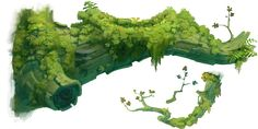 Meh Tumblr Art Refs Blog — grandminimus: High-res tree pieces from Rayman...