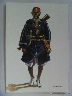 Delfín Sales, Ascari de la policía en el África española, 1911.