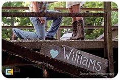 Engagement Pictures, country engagement Name, boots, bridge, yep. Country Engagement Pictures, Engagement Couple, Engagement Shoots, Wedding Engagement, Our Wedding, Dream Wedding, Wedding Ideas, Engagement Ideas, Chic Wedding
