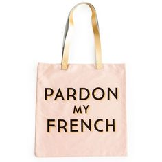 Rosanna 'Pardon My French' Tote Bag (115 ILS) ❤ liked on Polyvore featuring bags, handbags, tote bags, pink, pink tote bags, tote handbags, canvas purse, canvas handbags and pink purse