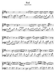 Red - Taylor Swift Sheet Music