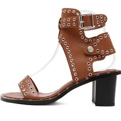 ==> [Free Shipping] Buy Best fashion women Roman high-heeled shoes Luxury sexy rivets leather buckle sandals summer Ladies thick platform high heels shoes Online with LOWEST Price | 32804715835