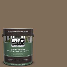 BEHR Premium Plus Ultra 1-gal. #710D-6 Butternut Wood Semi-Gloss Enamel Exterior Paint