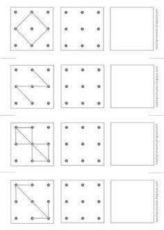 Structuration de l'espace en maternelle Relier points comme sur le modèle