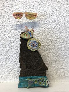 Straw Bag, Art Pieces, Mixed Media, Collage, Bags, Painting, Handbags, Collages, Artworks