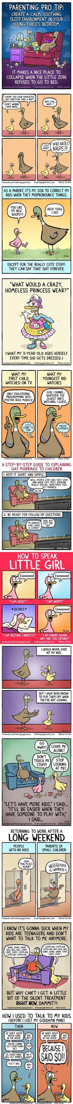 These comics hilariously sum up parenthood.