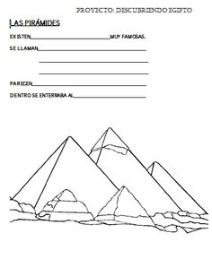 las piramides de egipto para nios  Buscar con Google  Proyecto