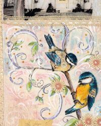 A Year Captured in Fabric by Tracie Lyn Huskamp - one of 5 art journaling techniques